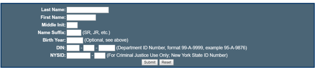 New York Department of Corrections (DOC) Website